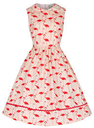 sammy pink flamingo 50 u0027s dress vintage inspired fashion lindy bop