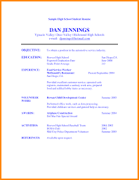 Resume Samples College Student by Good Resume Example For High Student Templates