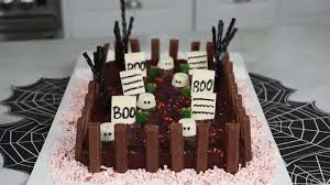 how to make a ghoulish graveyard cake youtube