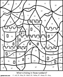 Sand Castle Coloring By Numbers Games The Sun Games Site Flash Kid Sandcastle Coloring Page