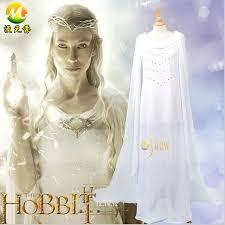 Hobbit Halloween Costume Aliexpress Buy Hobbit Fairy Queen Galadriel Cosplay