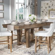 Expandable Dining Room Tables Artistic Arness Counter Height Extendable Dining Table Reviews