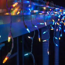 50 m5 led icicle lights multicolor color change white wire