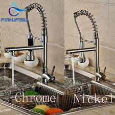 aliexpress com buy brushed nickel chrome kitchen faucet double