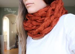 diy arm knit chunky cowl simplymaggie com