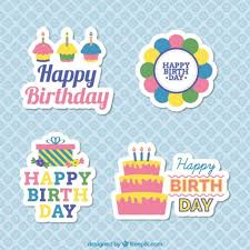 birthday stickers free vector birthday stickers 10876 my graphic hunt