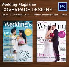 wedding magazine template free download
