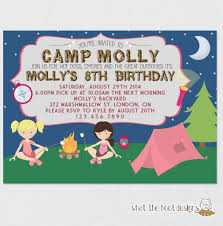 campout birthday party invitations free printable invitation design