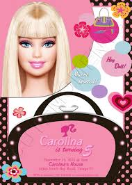 Barbie Birthday Invitation Cards Barbie Birthday Party Invitations Party Invitations Ideas