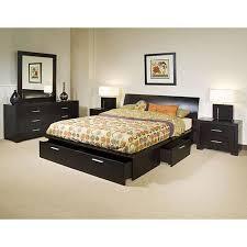 King Platform Storage Bed Kian King Storage Platform Bed Walnut King Size Platform Bed