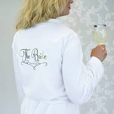 wedding dressing gowns personalised wedding dressing gown for the by sparks
