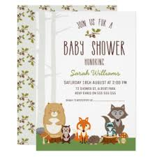 woodland baby shower invitations woodland animal themed baby shower invitations zazzle