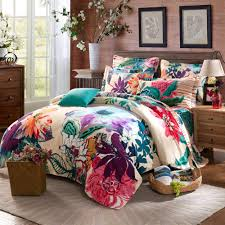 Cotton Bed Linen Sets - uncategorized teal bedding sets floral bed comforter modern