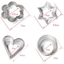 amazon com heroneo 20pc stainless star heart flower cookie fruit