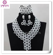 african crystal beads necklace images 2016 fashion exquisite design white crystal beads and black beads jpg