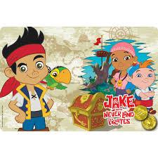 jake neverland pirates plastic placemats sale zak