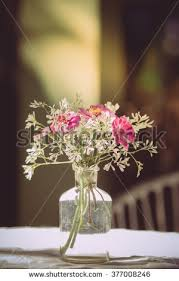 Part Of Flowers - vase various types flowers vintage style stock photo 370079555