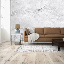 white marble wall mural brewster home fashions touch of modern white marble wall mural