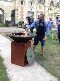 cuisine sur plancha le chef ludovic laurenty du château de perreux cuisine sur le