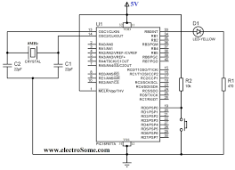 using push button switch with pic microcontroller mikroc circuit