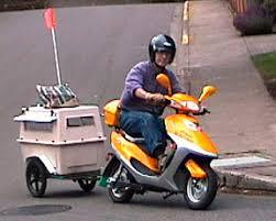 cycle santa moped trailers