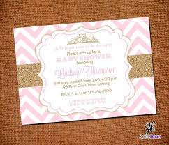 pink and gold baby shower invitation cimvitation