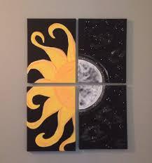 sun and moon canvas painting my canvas art pinterest moon