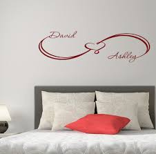 aliexpress com buy unique custom wall decals infinity sign heart aliexpress com buy unique custom wall decals infinity sign heart family names home wall sticker bedroom vinyl art decor you choose name and color from