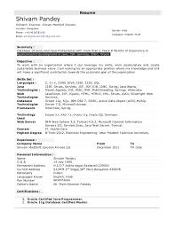 Sample Resume For Sap Abap 1 Year Of Experience by Sample Java Resume Image Gallery Of Opulent Ideas Ui Developer