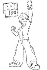 free ben ten colouring pages coloring page