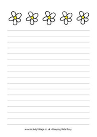 Thanksgiving Writing Paper Printable Stationery For Kids