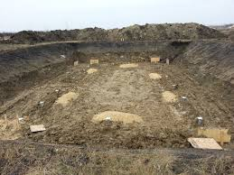 another new build home foundation on postech thermal piles