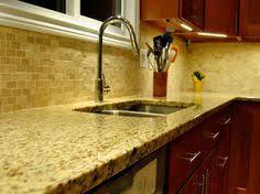 brown travertine mix kitchen backsplash tile from backsplash com