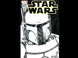 prototype boba fett star wars sketch cover by andy moore dribbble