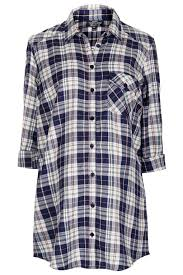 Maternity Plaid Shirt Topshop Maternity Oversized Check Shirt In Blue Lyst