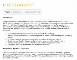 sample of objectives in a resume guidance note 2 on developing an eiti workplan including template example philippines work plan