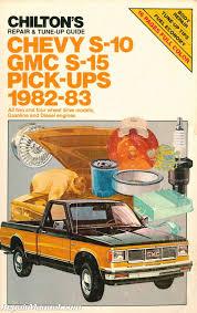 used chilton 1982 1983 chevy s10 gmc s15 pick ups repair manual