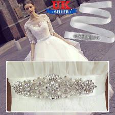Wedding Dress Sashes Wedding Dress Sash Ebay
