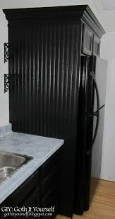 cabinet enclosure for refrigerator giy goth it yourself kitchen makeover diy refrigerator cabinet