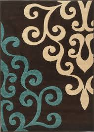 Damask Kitchen Rug Rug Modern Damask Brown Teal Blue Cream 160x230cm Ebay