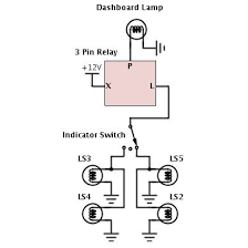 3 pin flasher unit wiring diagram with 3 pin flasher relay wiring