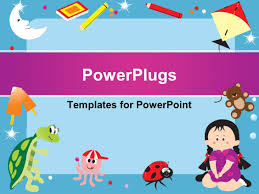 powerpoint template green frame with alphabets abcd books
