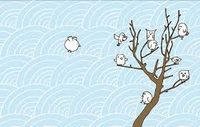 birds and trees wallpaper hd wallpapers