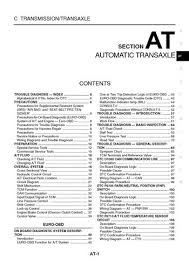 2004 nissan x trail automatic transmission section at pdf