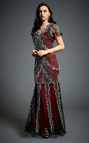 evening maxi dresses vine embellished 1920s gatsby evening maxi dress silkfred