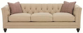 sofa without back robin bruce stevens tuxedo styled sofa with deep tufted cushion