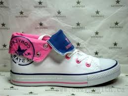 Comfortable Converse Shoes Comfortable Converse Star Chuck Taylor Hi Top White Pink Denim