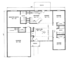 bungalow house plans floor plan 3 bedroom bungalow house house design plans