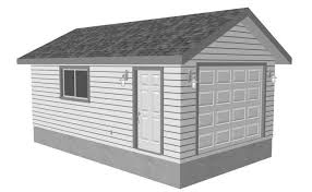 22x22 2 Car 2 Door Detached Garage Plans by 9 Free Plans For Building A Garage
