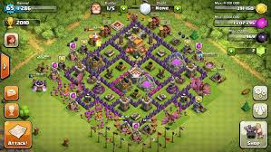 layout coc town hall level 7 town hall level 7 base designs